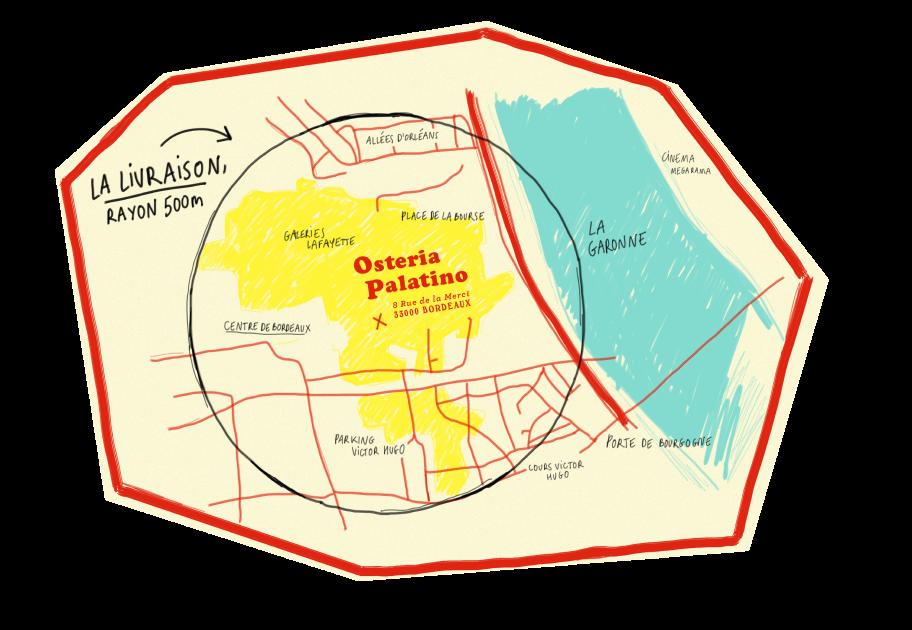 Osteria Palatino - 8 rue de la Merci 33000 Bordeaux